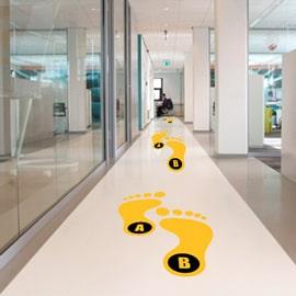 Floor Graphics</br>Anti-Slippery Lamination