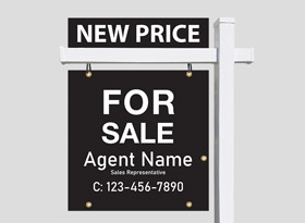 For Sale Signs - Black